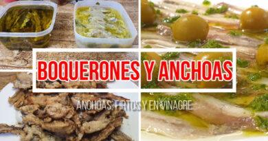 Boquerones y anchoas: Fritos, en aceite o en vinagre